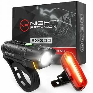 BX-300 USB Rechargeable LED Bike Light Set Front And Back Cycling Safety Light